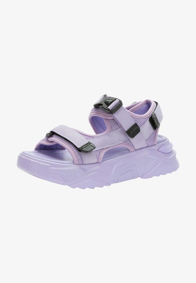 Sandalen met plateauzool - purple