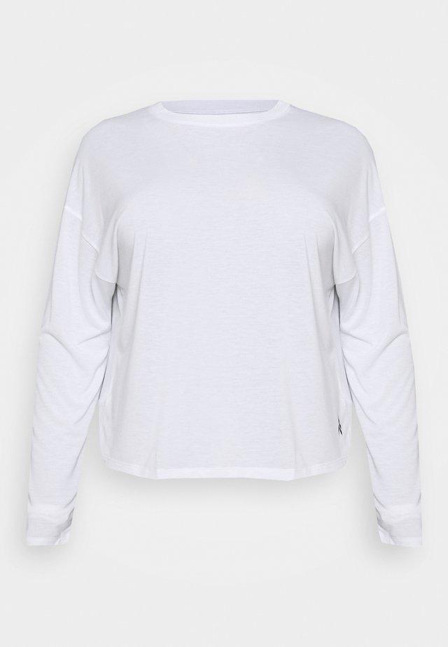 LONG SLEEVE - T-shirt sportiva - white