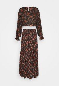 SECRET GARDEN SET - Maxi skirt - black