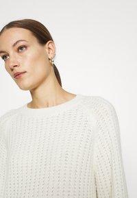 Selected Femme - SLFFRAME CREW NECK - Jumper - snow white/melange - 3