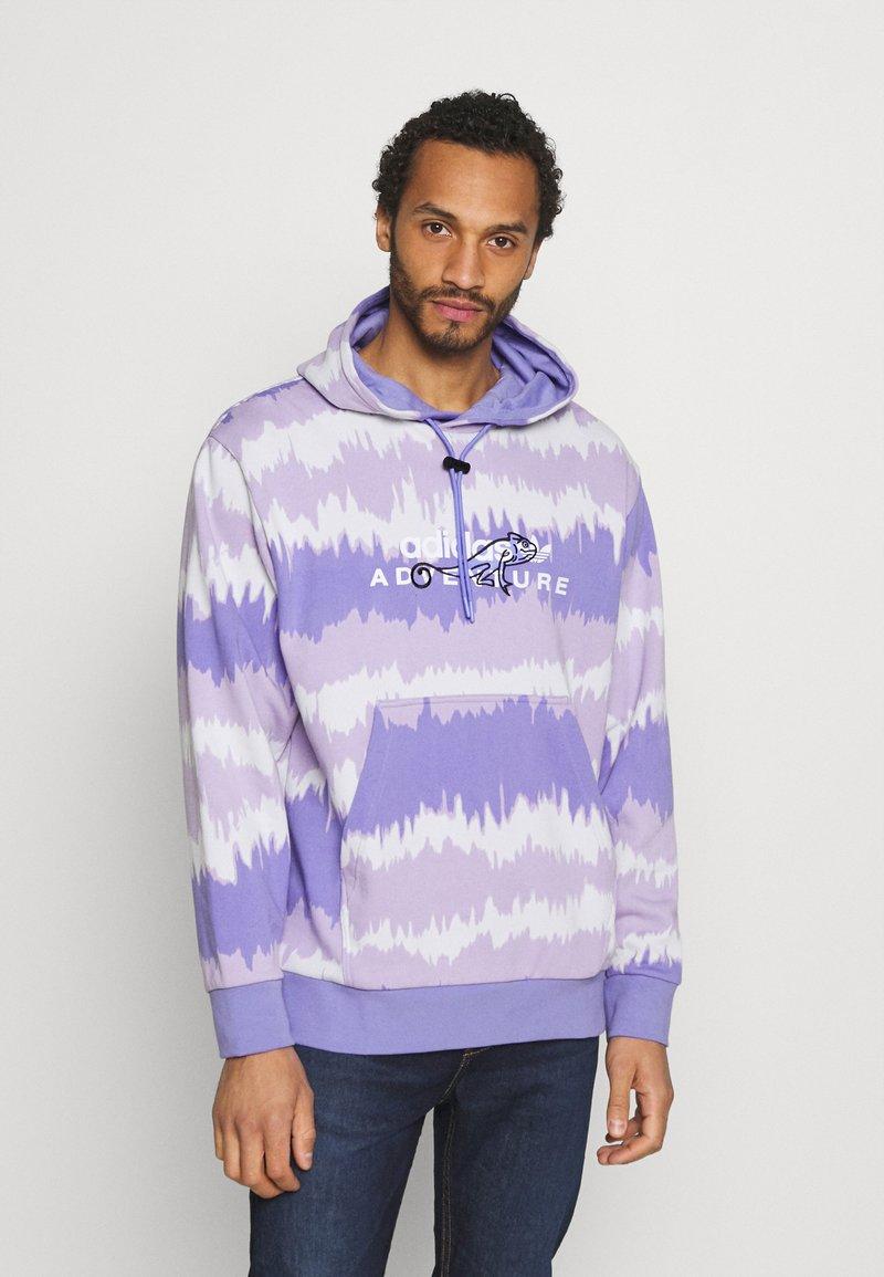adidas Originals - HOODY UNISEX - Sweatshirt - light purple/multicolor