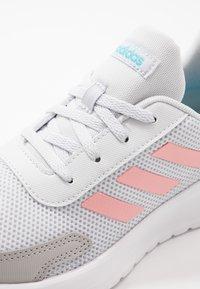 adidas Performance - TENSAUR RUN UNISEX - Neutral running shoes - dash grey/glow pink/bright cyan - 2