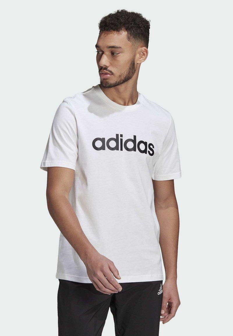 adidas Performance - Triko spotiskem - white black