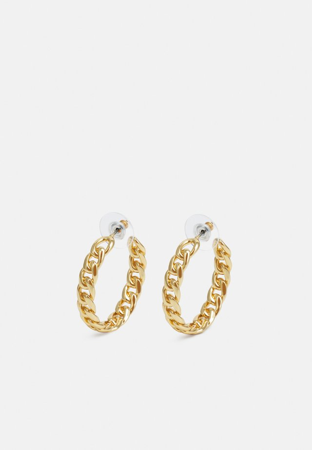 CURB CHAIN HOOP EARRING - Pendientes - gold-coloured