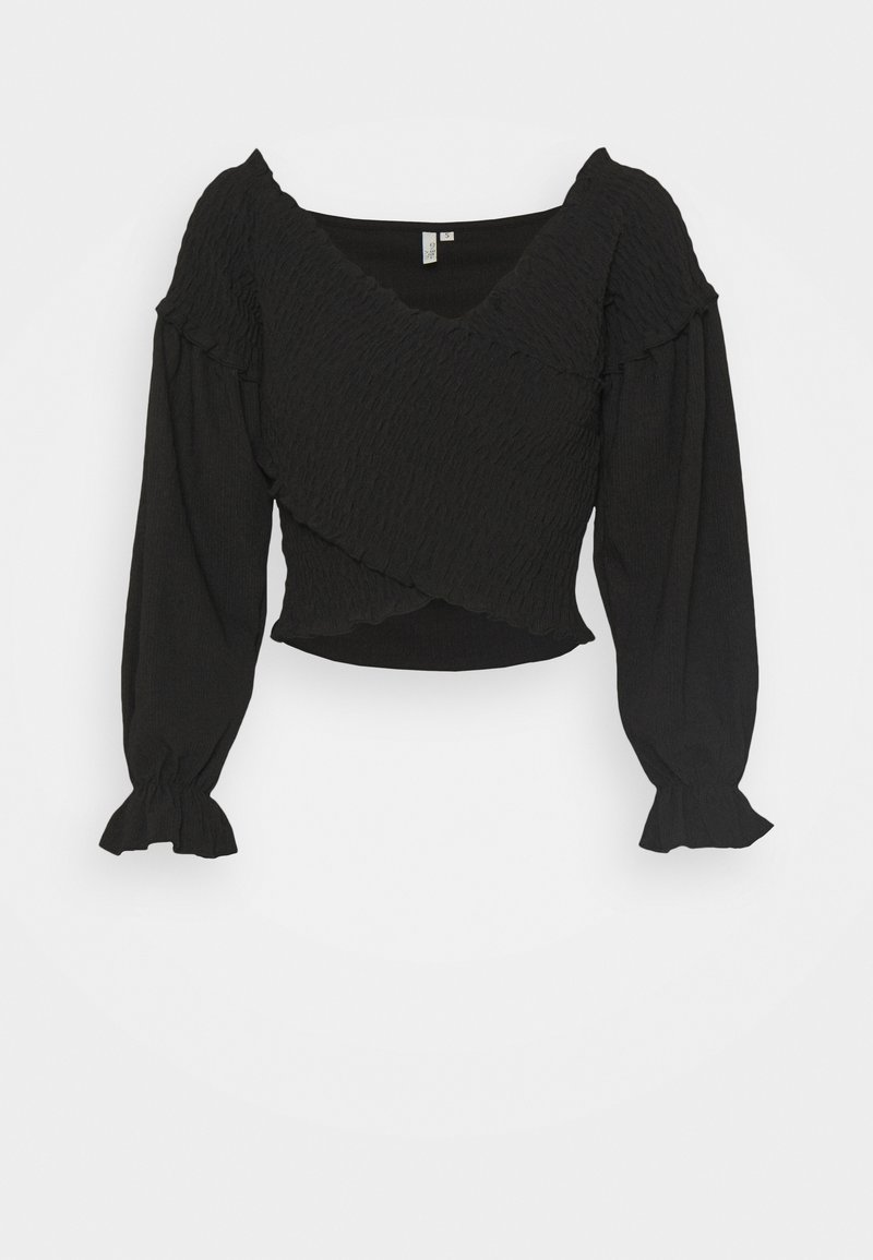 Nly by Nelly - CRISS CROSS SMOCK - Long sleeved top - black