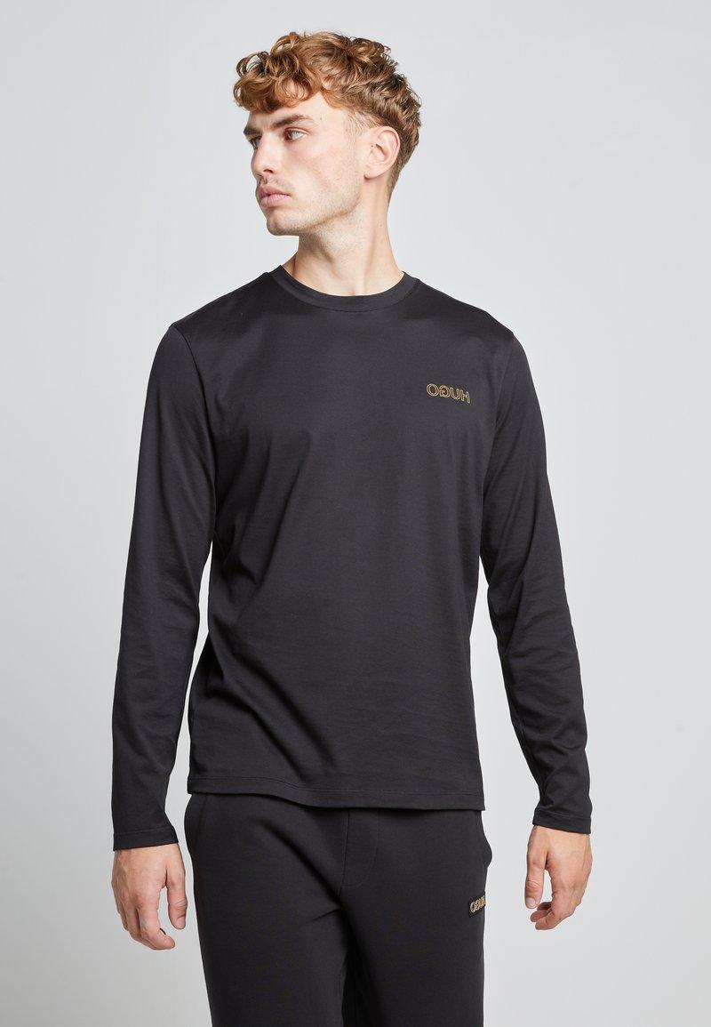 HUGO - DEROL ZA - Maglietta a manica lunga - black/gold