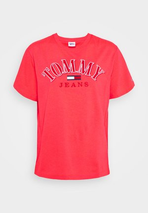 COLLEGE LOGO TEE - Print T-shirt - diva pink