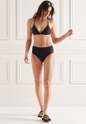 BACK FIXED TRI - Bikini top - black