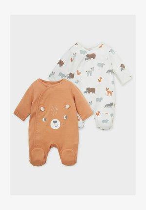 2ER-PACK - Sleep suit - brown / cremewhite