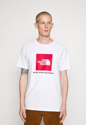 T-shirt med print - white/red