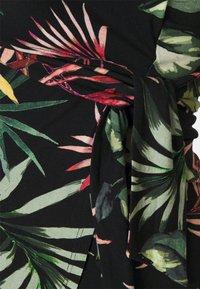 Envie de Fraise - ADELAIDE - Sukienka z dżerseju - black/palm leaves multicolour - 2