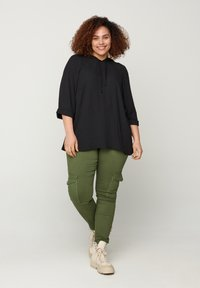 Zizzi - Long sleeved top - black - 1