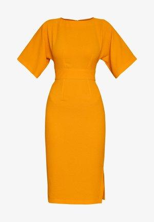 CLOSET KIMONO SIDE SLIT MIDI DRESS - Shift dress - yellow