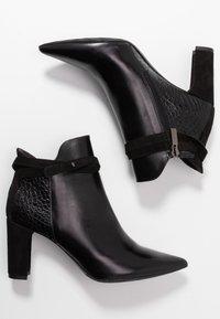 PERLATO - High heeled ankle boots - noir - 3
