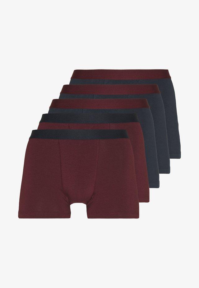 5 PACK - Onderbroeken - dark blue/bordeaux