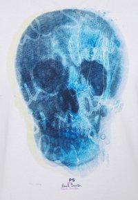 PS Paul Smith - MENS SLIM FIT SKULL - Print T-shirt - white - 5
