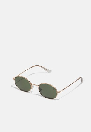 SHAUN - Lunettes de soleil - gold-coloured/green