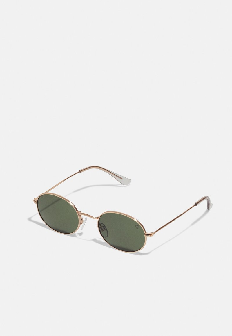 CHPO - SHAUN - Sunglasses - gold-coloured/green