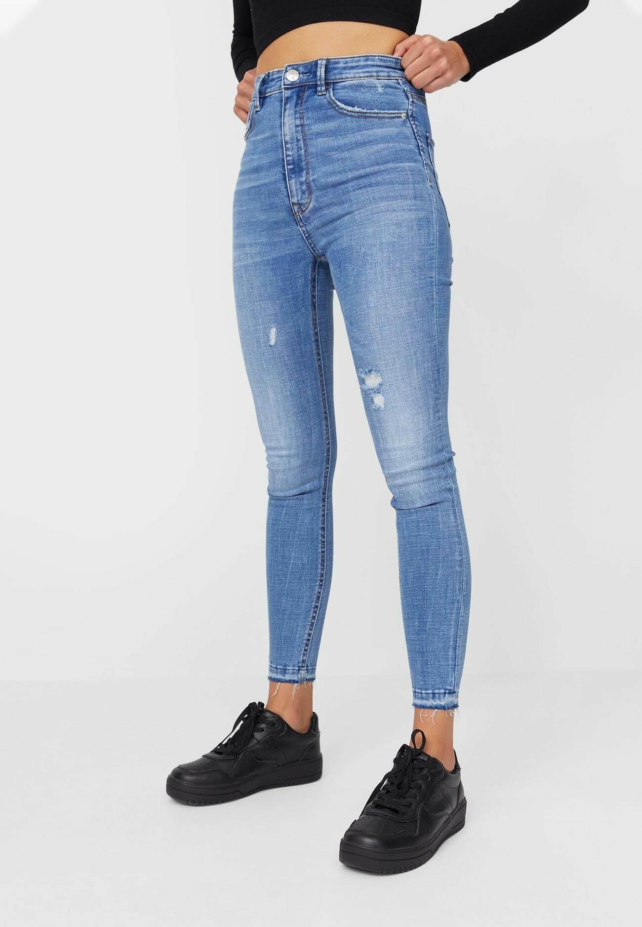 Damen MIT SEHR HOHEM BUND UND KNOPFLEISTE  - Jeans Skinny Fit