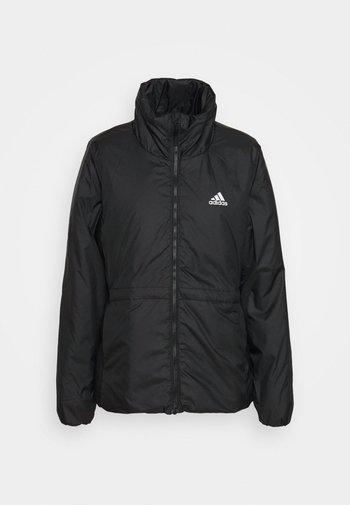 BASIC 3 STRIPES INSULATED - Winter jacket - black