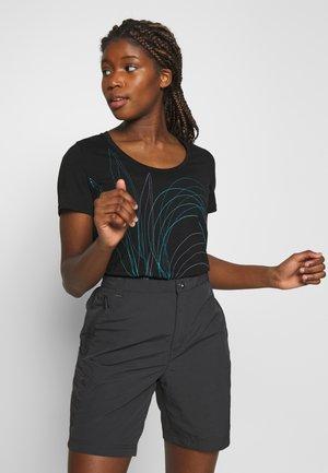 TECH LITE SCOOP LEAF - T-shirts med print - black