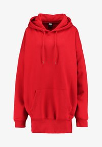 LADIES LONG OVERSIZE HOODY - Mikina skapucí - fire red