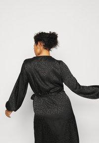 ONLY Carmakoma - CARDAMINA WRAP KNEE DRESS - Day dress - black - 4