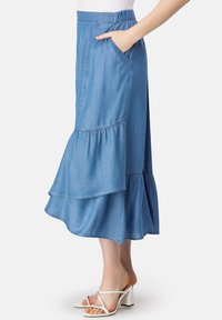 HELMIDGE - A-line skirt - blau - 3