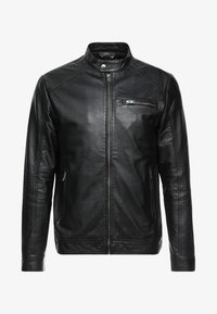 Selected Homme - CLASSIC JACKET - Veste en cuir - black - 4