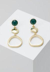SNÖ of Sweden - LIW LONG MIX EAR - Earrings - gold-coloured/green - 0