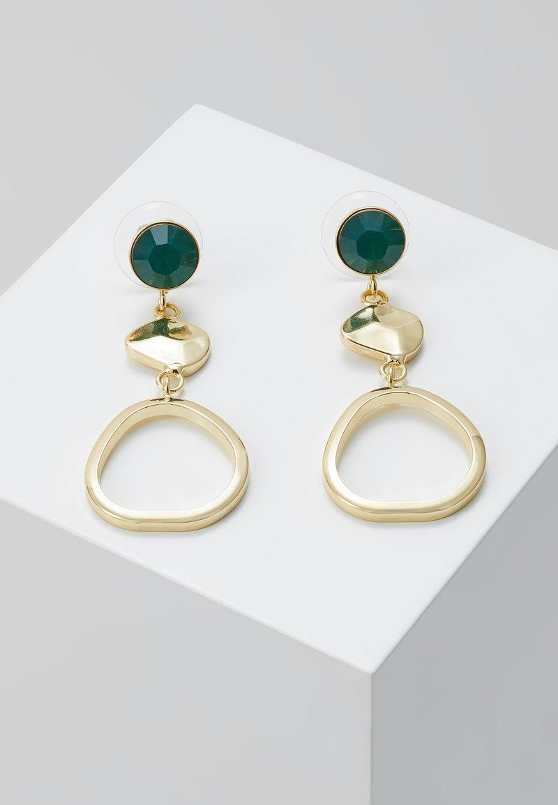 SNÖ of Sweden - LIW LONG MIX EAR - Earrings - gold-coloured/green