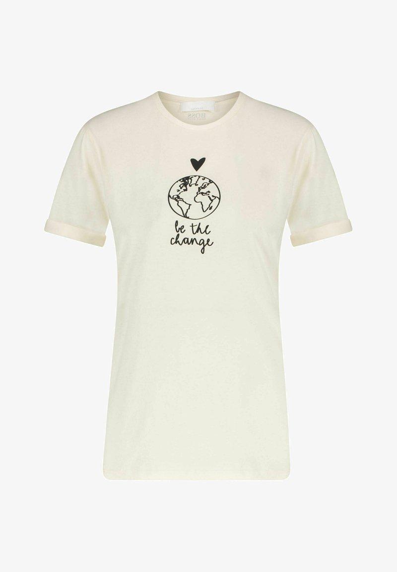 BOSS - Print T-shirt - weiss