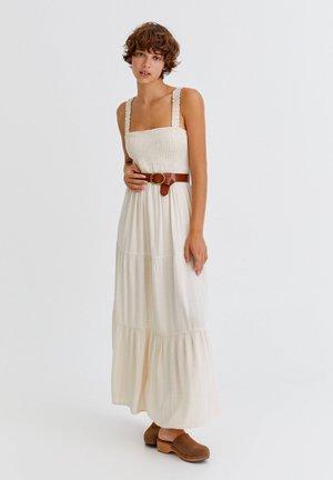 Maxi dress - mottled beige