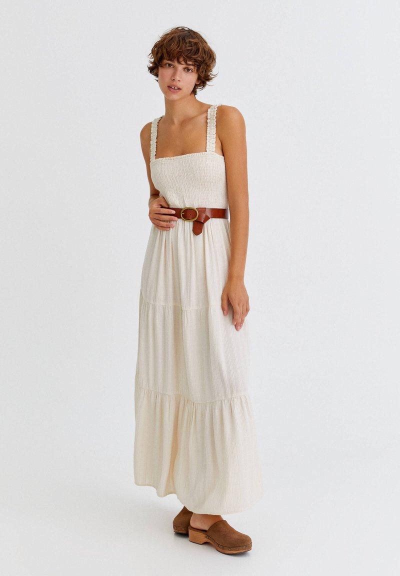 PULL&BEAR - Maxi dress - mottled beige