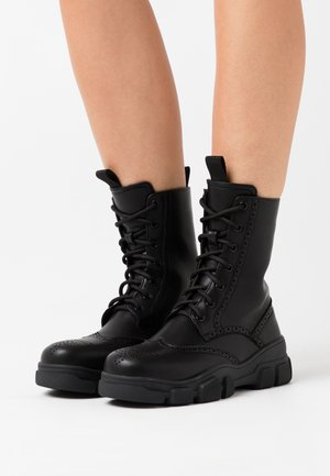 VEGAN SIGHTINGS - Lace-up ankle boots - black