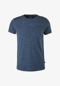 QS by s.Oliver - Basic T-shirt - blue melange - 6