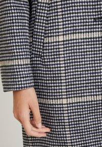 TOM TAILOR - CHECK COAT - Classic coat - black/navy - 5