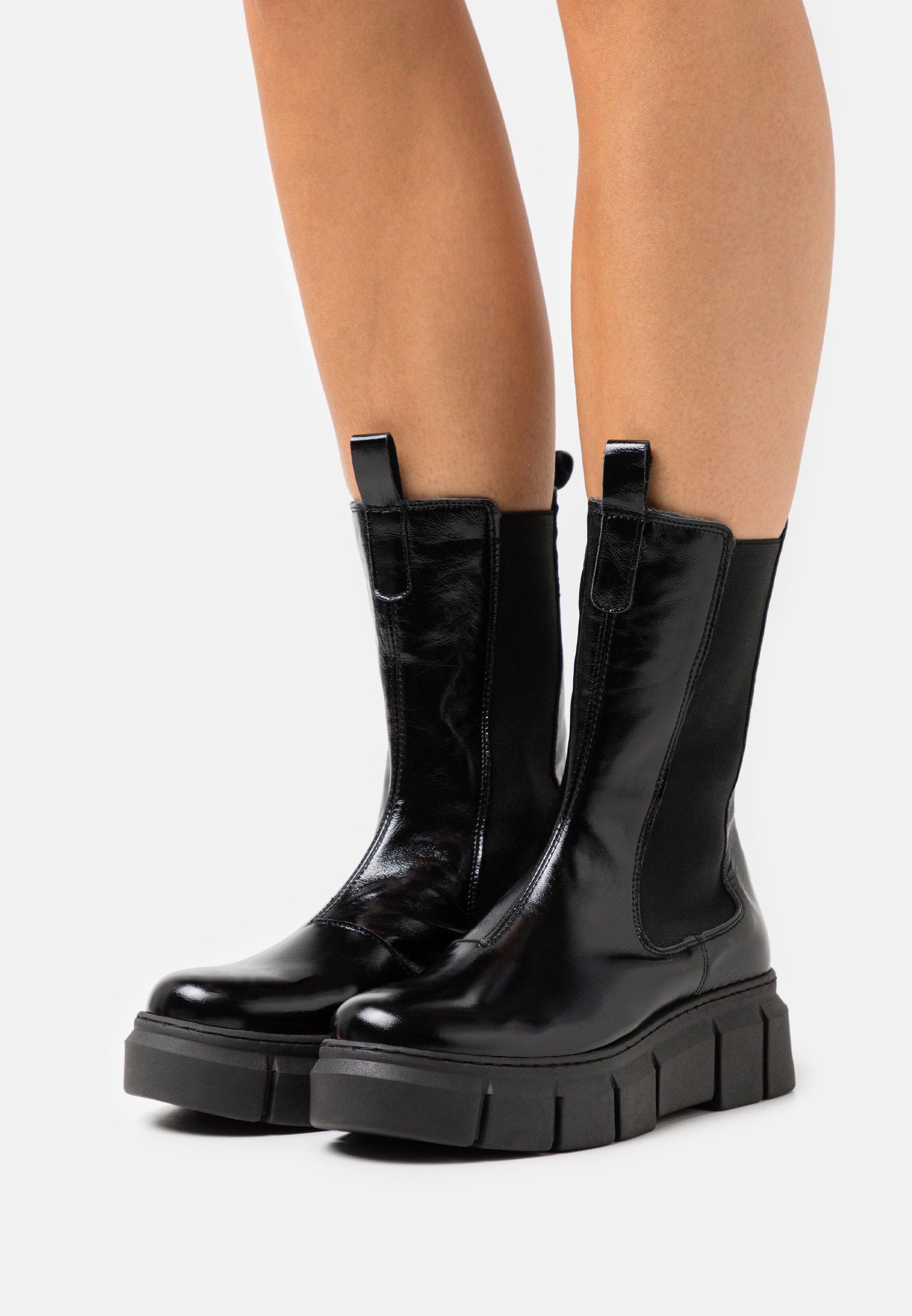 Women PICK UP - Platform boots - charol arrugado