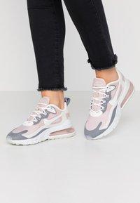 Nike Sportswear - AIR MAX 270 REACT - Trainers - plum chalk/summit white/stone mauve/smoke grey - 0