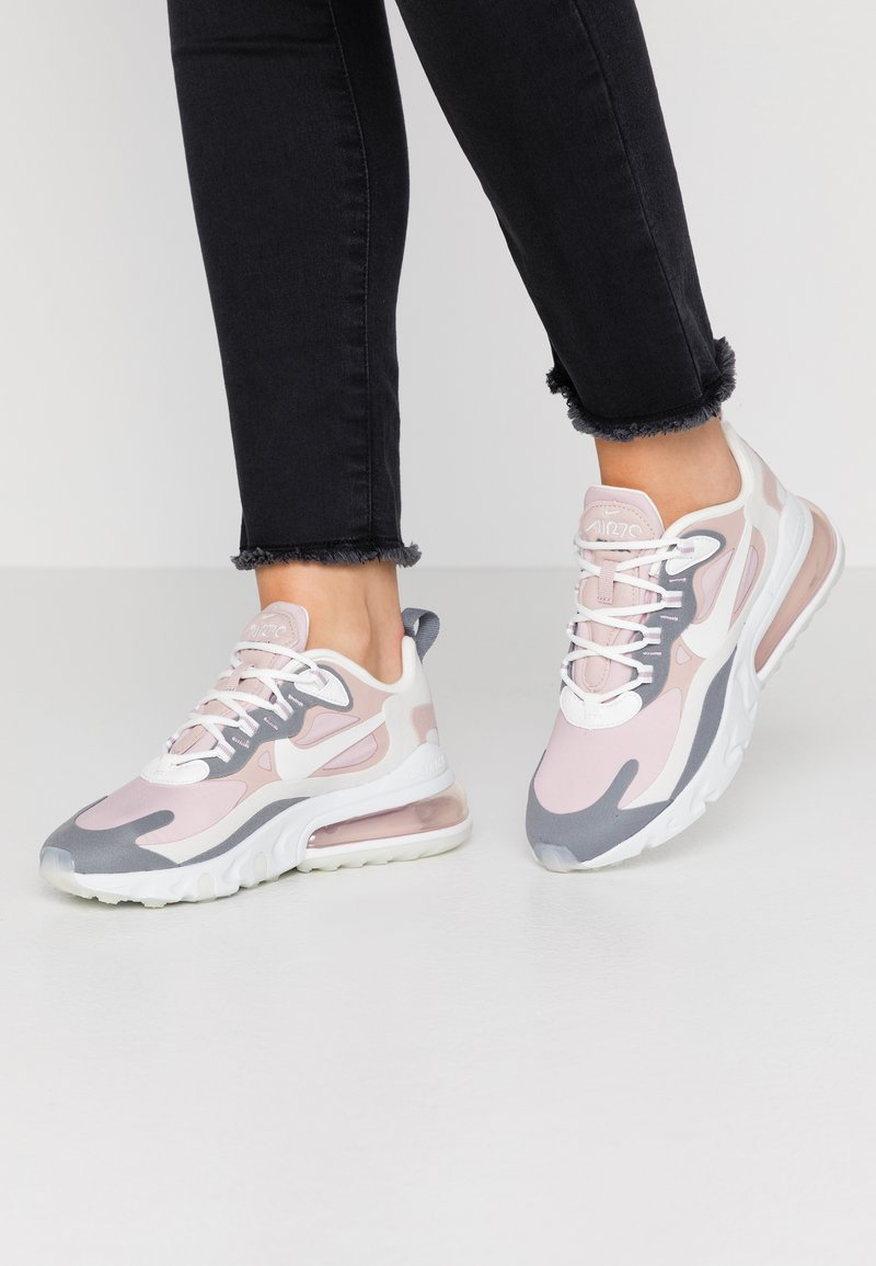 Nike Sportswear - AIR MAX 270 REACT - Trainers - plum chalk/summit white/stone mauve/smoke grey