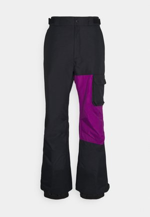 HERO SNOWPANT - Skibroek - black/plum