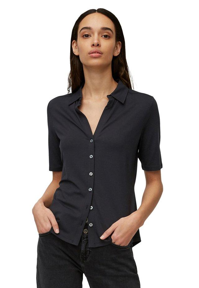 Button-down blouse - dark atlantic