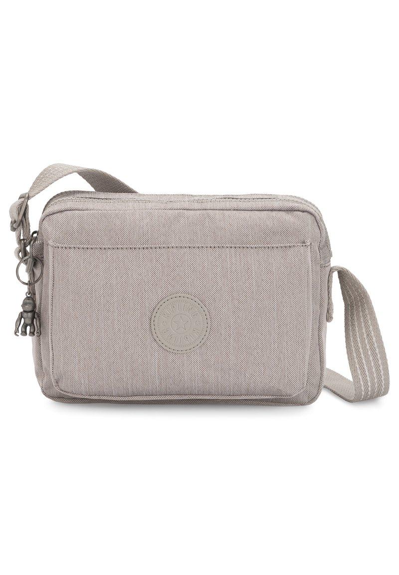 Kipling - KIPLING PEPPERY ABANU M UMHÄNGETASCHE 24 CM - Across body bag - grey beige pep
