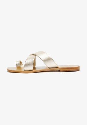 NIHIOTE  - T-bar sandals - gold