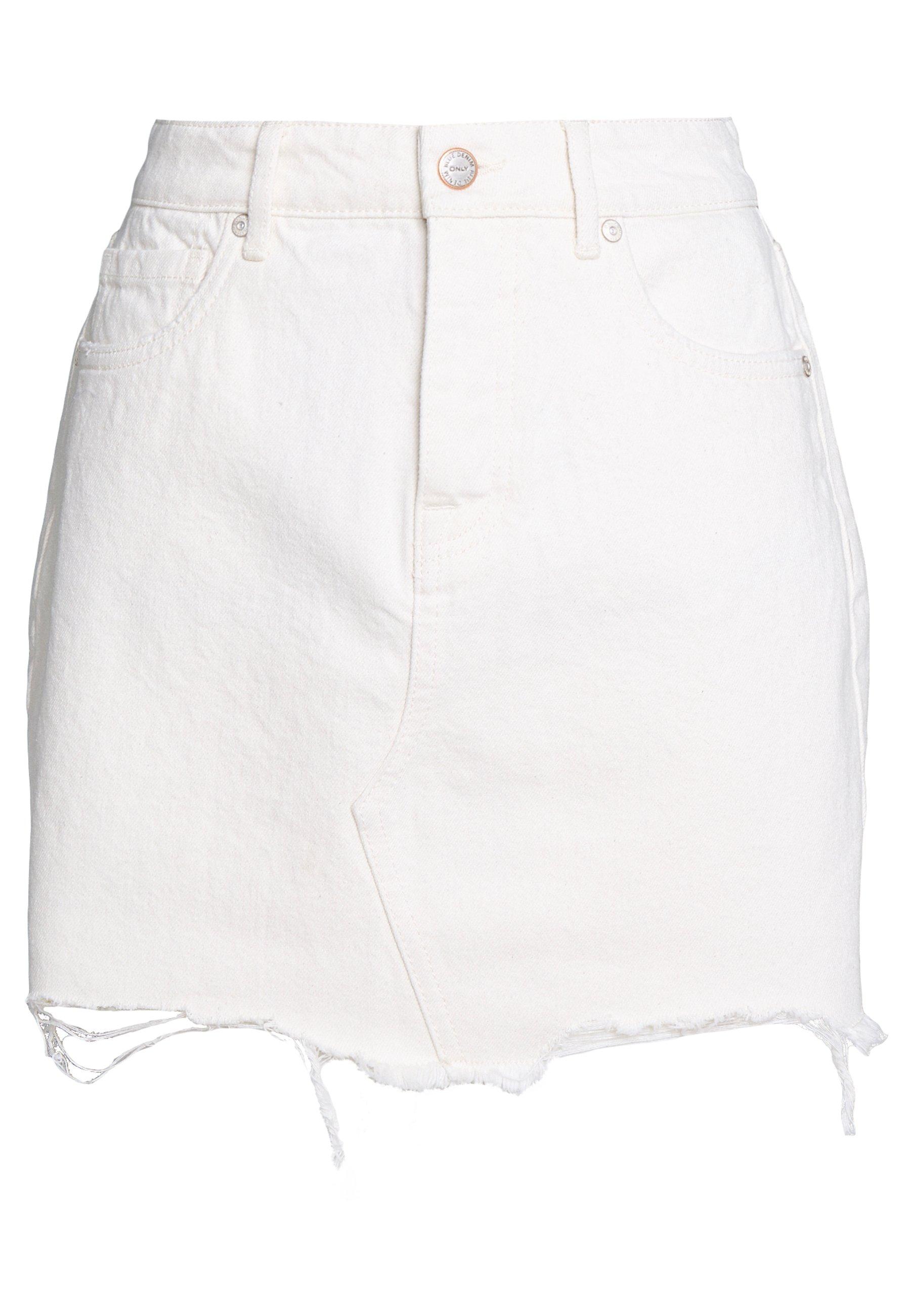 Femme ONLSKY SKIRT RAW EDGE - Jupe en jean