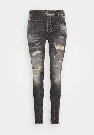 BILLY THE KID REPAIRED - Skinny džíny - vintage black