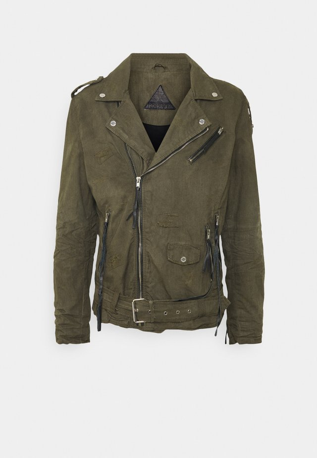 BECHAIN - Denim jacket - khaki