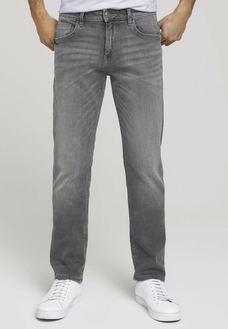 TOM TAILOR - TAVIS REGULAR  - Straight leg jeans - used light stone grey denim
