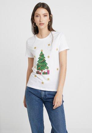 ONLCHRISTMAS BLING BOX - Camiseta estampada - bright white