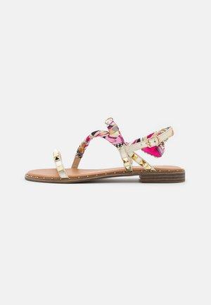 Sandaalit nilkkaremmillä - laminato platino